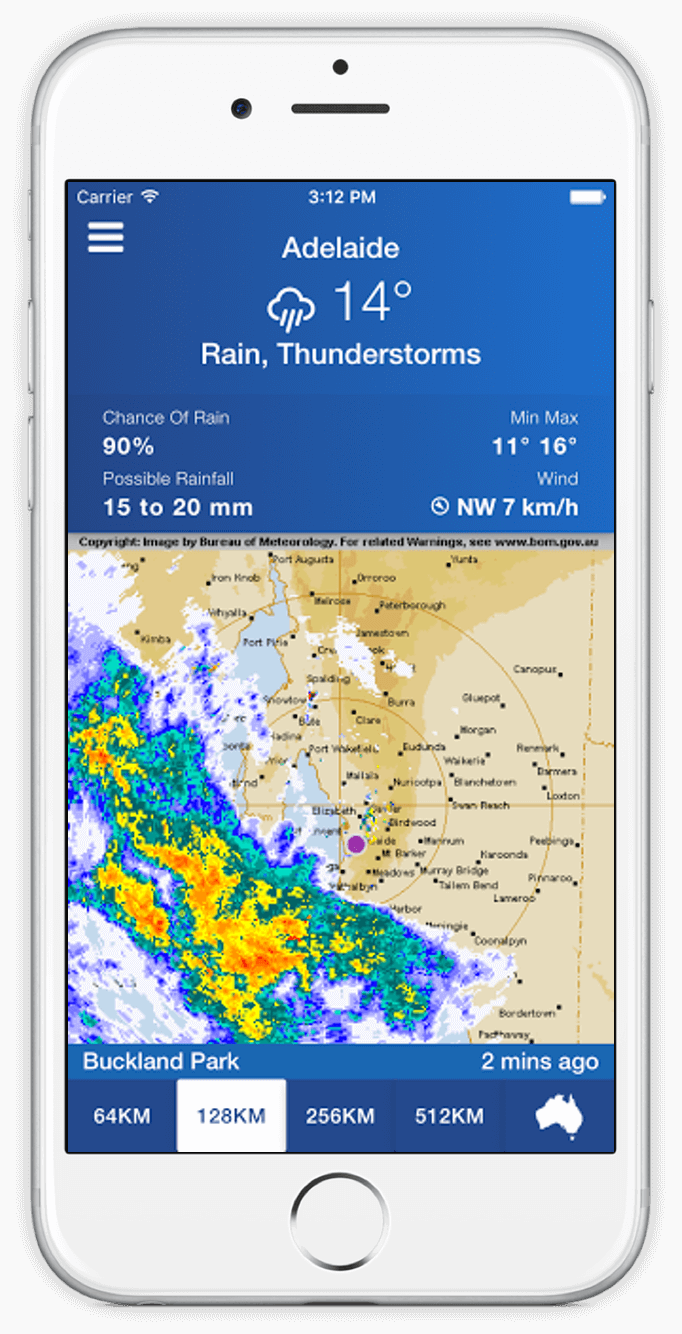 AUS Bom Radar Australian Rain Radar Weather Forecast iOS